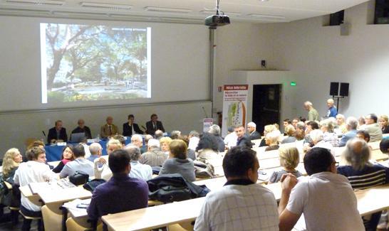 réunion publique de lancement de la concertation Nice Méridia  à la Faculté des Sciences et du Sport