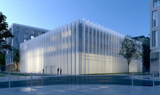 Bâtiment de l'IMREDD (Architecte Marc Barani) vue du futur Cours de l'Université