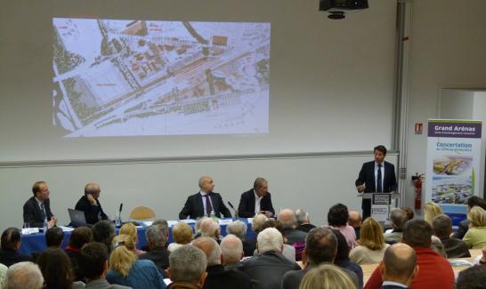 Concertation publique du projet Grand Arénas
