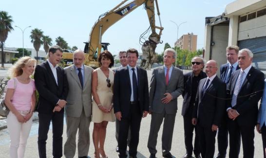 Lancement de la première phase de travaux : déconstruction de deux bâtiments