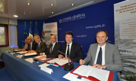 Jean-Pierre Testi, Patrick Allemand, Adolphe Colrat, Eric Ciotti, Christian Estrosi et Pascal Gauthier